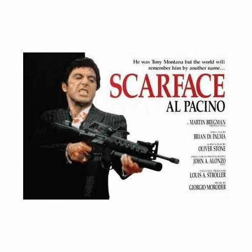 Scarface Movie Poster Quad Style 24in x36 in
