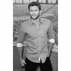 "Scott Eastwood Black and White Poster 24""x36"""