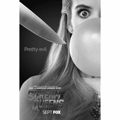 "Scream Queens Black and White Poster 24""x36"""