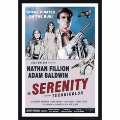 """Serenity Movie Poster """"Vintage Style"""" 24in x36 in"""