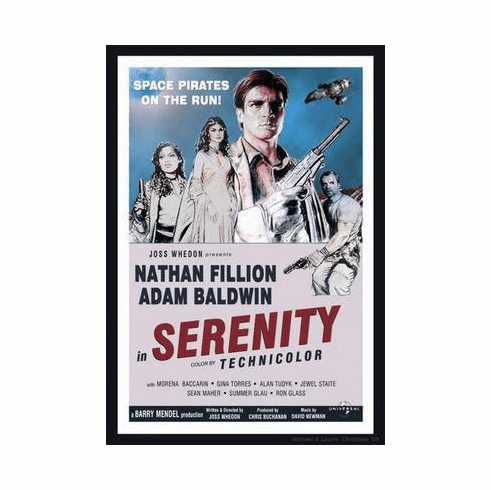 "Serenity Movie Poster ""Vintage Style"" 24in x36 in"