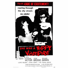 She Was A Hippie Vampire Movie Poster 24in x36in