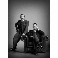 "Sherlock Black and White Poster 24""x36"""