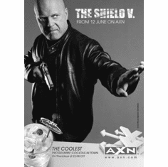 "Shield Black and White Poster 24""x36"""