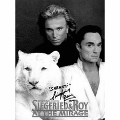 "Siegfried And Roy Black and White Poster 24""x36"""