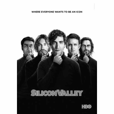 """Silicon Valley Black and White Poster 24""""x36"""""""
