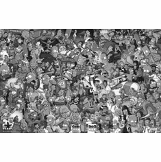 "Simpsons The Black and White Poster 24""x36"""