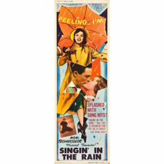 Singin In The Rain Movie Poster Insert 14x36