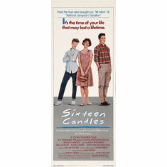 "Sixteen Candles Slim Movie Poster 14""X36"""