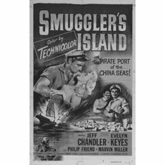 "Smugglers Island Black and White Poster 24""x36"""