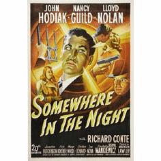 Somewhere In The Night Movie Poster 24inx36in