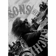 """Sons Of Anarchy Black and White Poster 24""""x36"""""""