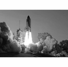 """Space Shuttle Launch Black and White Poster 24""""x36"""""""