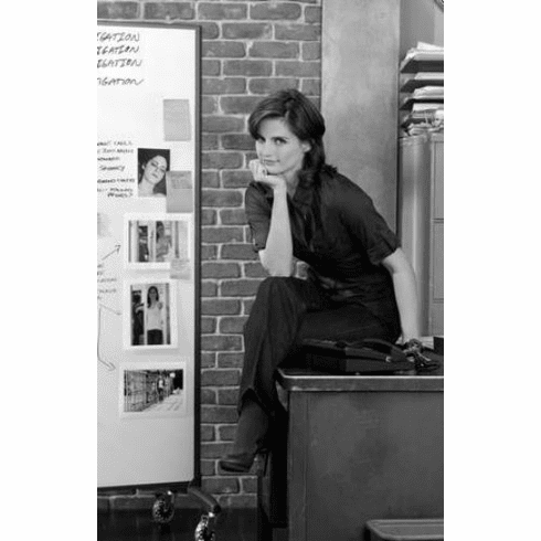 "Stana Katic Black and White Poster 24""x36"""