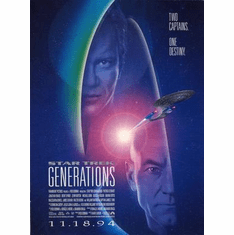 Star Trek Movie Poster Generations Art Only No Text 24in x36 in