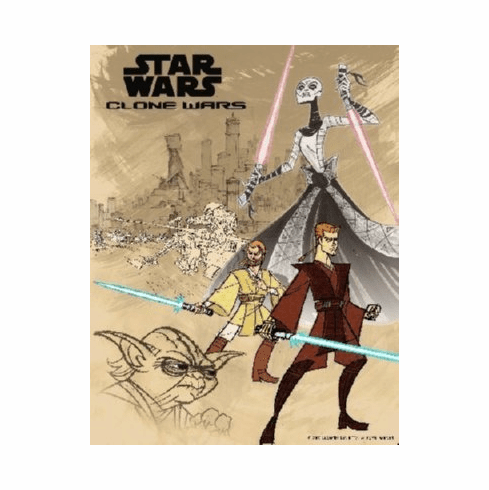 Star Wars Clone Wars Mini Movie Poster 11x17