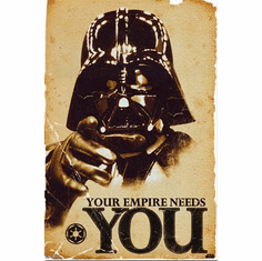 Star Wars Darth Vader Your Empire Needs You Recruitment Poster 24x36