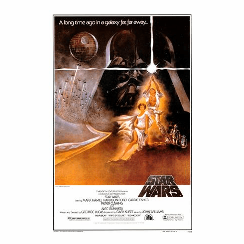 Star Wars Movie POSTER A Commericial Repro. Poster 11x17 Mini Poster
