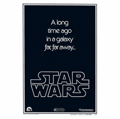 Star Wars Movie Poster A Long Time Ago.. 24in x36 in