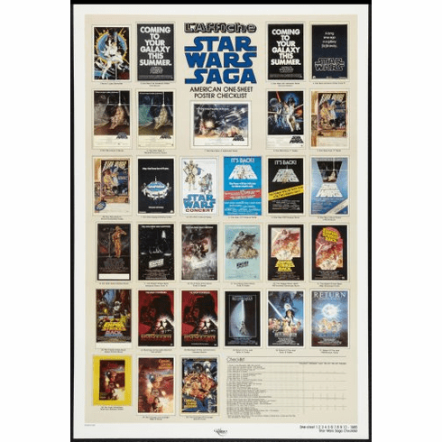 Star Wars Saga Movie Poster 24inx36in