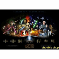 Star Wars Saga Poster 24inx36in