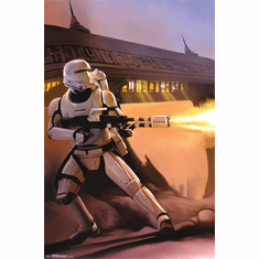 Star Wars The Force Awakens Movie Poster Troopers Open Fire 22x34