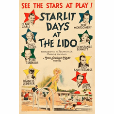 Starlit Days Lido Poster 24in x36in