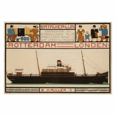 Steamship Advertising Poster 24in x36in