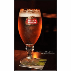 Stella Artois Art Poster Beer Glass 24in x36 in