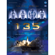 Sts-135 Mini Poster 11x17in Atlantis Space Shuttle