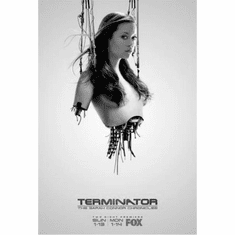 "Summer Glau Terminator Black and White Poster 24""x36"""