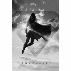 "Supergirl Black and White Poster 24""x36"""