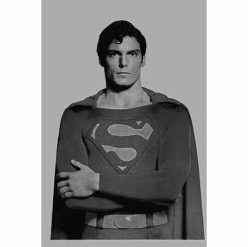 "Superman Black and White Poster 24""x36"""