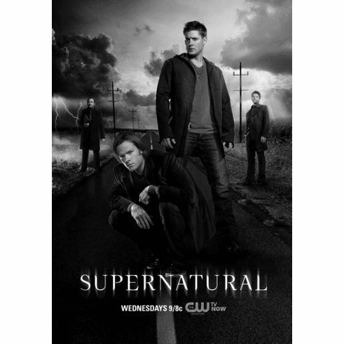 """Supernatural Black and White Poster 24""""x36"""""""