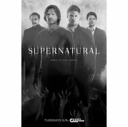 "Supernatural Black and White Poster 24""x36"""