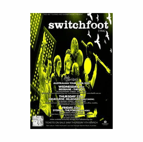 Switchfoot Poster 24in x36 in