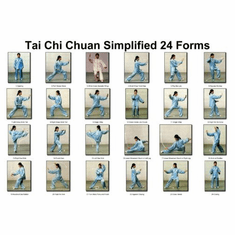 Tai Chi Chuan 24 Forms Poster 24inx36in