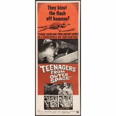 Teenagers From Outer Space Movie Poster Insert 14x36 #01
