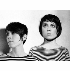"Tegan And Sara Black and White Poster 24""x36"""