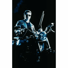 Terminator 2 Movie Poster Motorcycle 24in x36 in