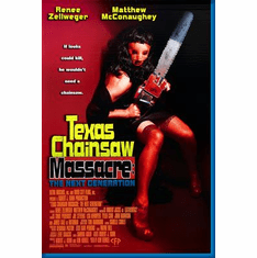 Texas Chainsaw Massacre Zellweger Mcconaughay Movie Poster 24inx36in