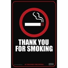 Thank You For Smoking Mini Poster 11x17