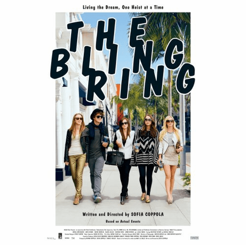 The Bling Ring Movie Poster 24inx36in Poster