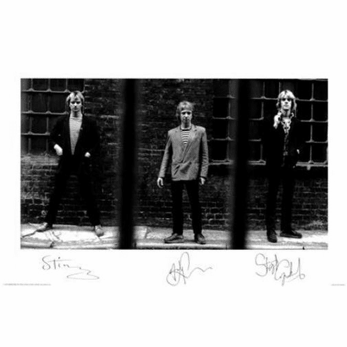 """The Police Black and White Poster 24""""x36"""""""