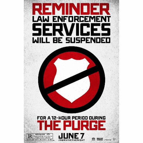 The Purge 11inx17in Mini Movie Poster