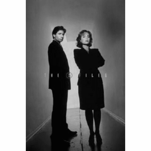 "The X Files Black and White Poster 24""x36"""