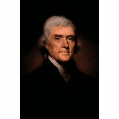 thomas jefferson 8x10 photo