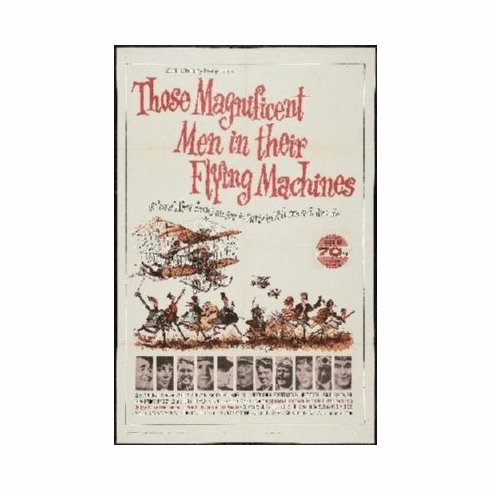 Those Magnificent Men Flying Machines Mini Movie Poster 11x17
