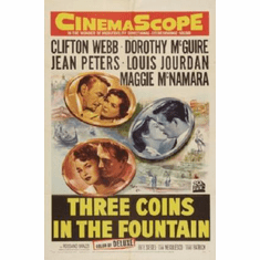Three Coins In The Fountain Movie 11inx17in Mini Poster #01