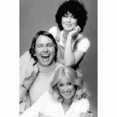 "Threes Company Black and White Poster 24""x36"""